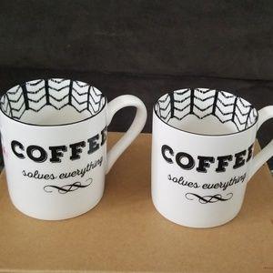 2 LENOX BISTRO PLACE mugs. NWT